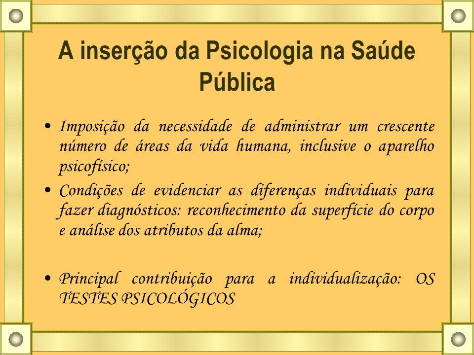 A inserção da Psicologia na Saúde Pública