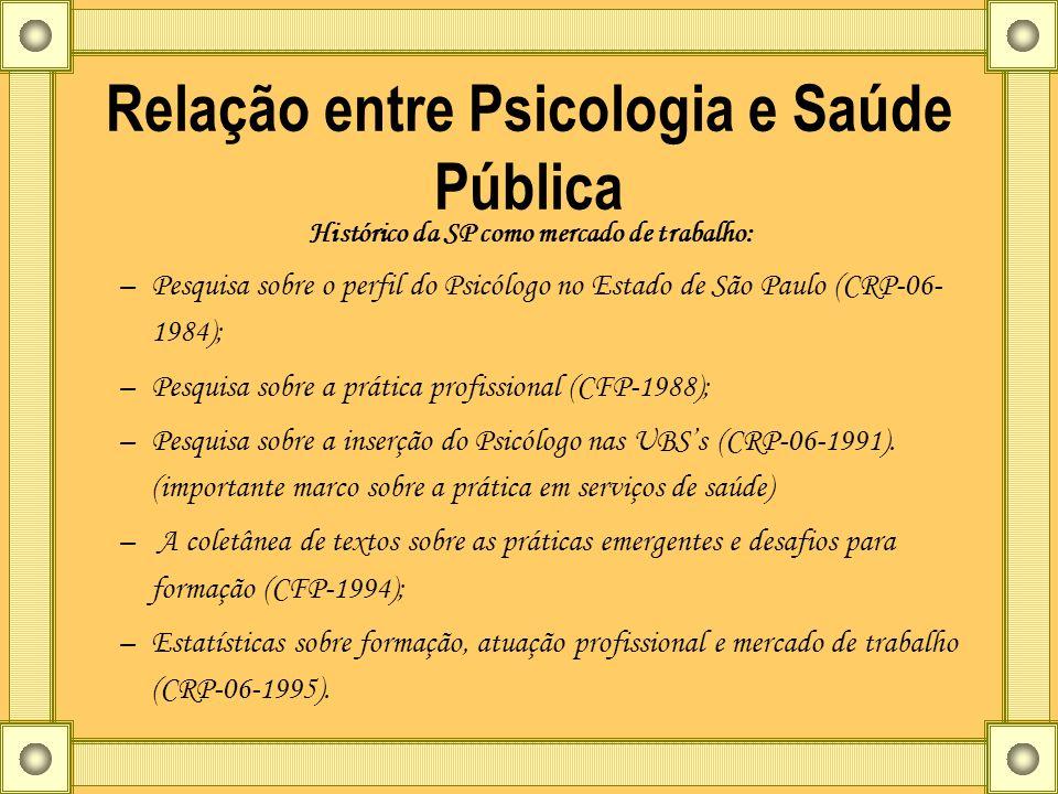 Relação entre Psicologia e Saúde Pública