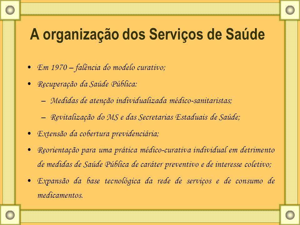A organização dos Serviços de Saúde