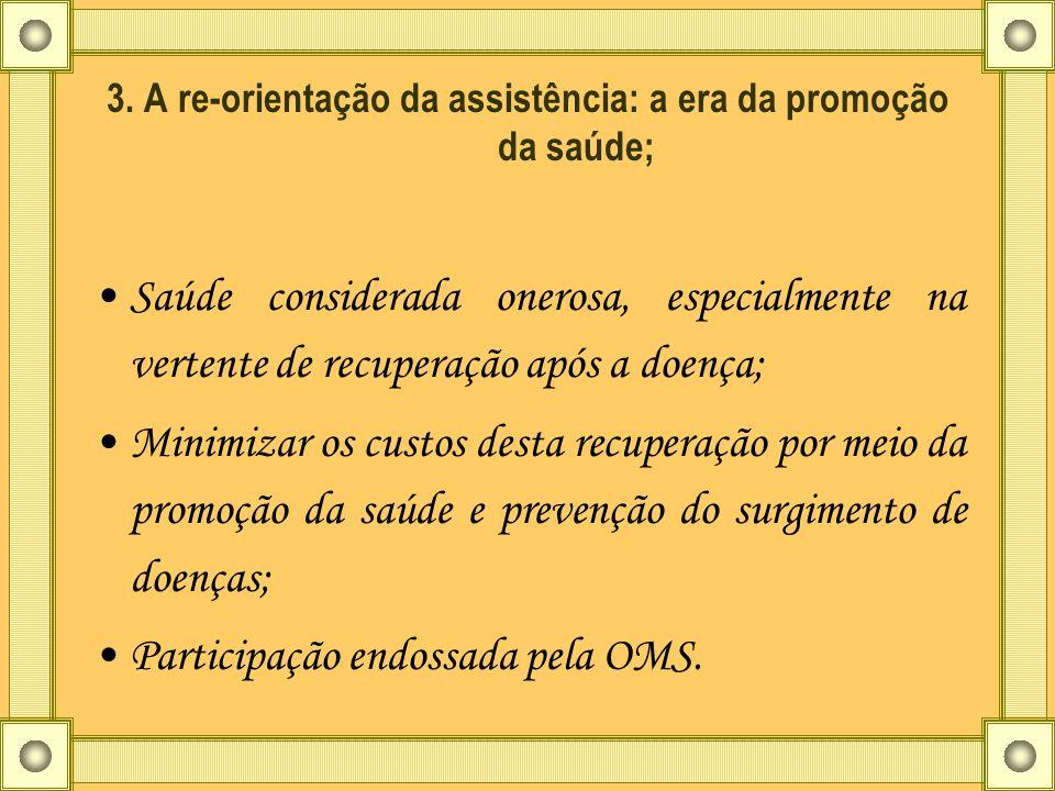 3. A re-orientação da assistência: a era da promoção da saúde;
