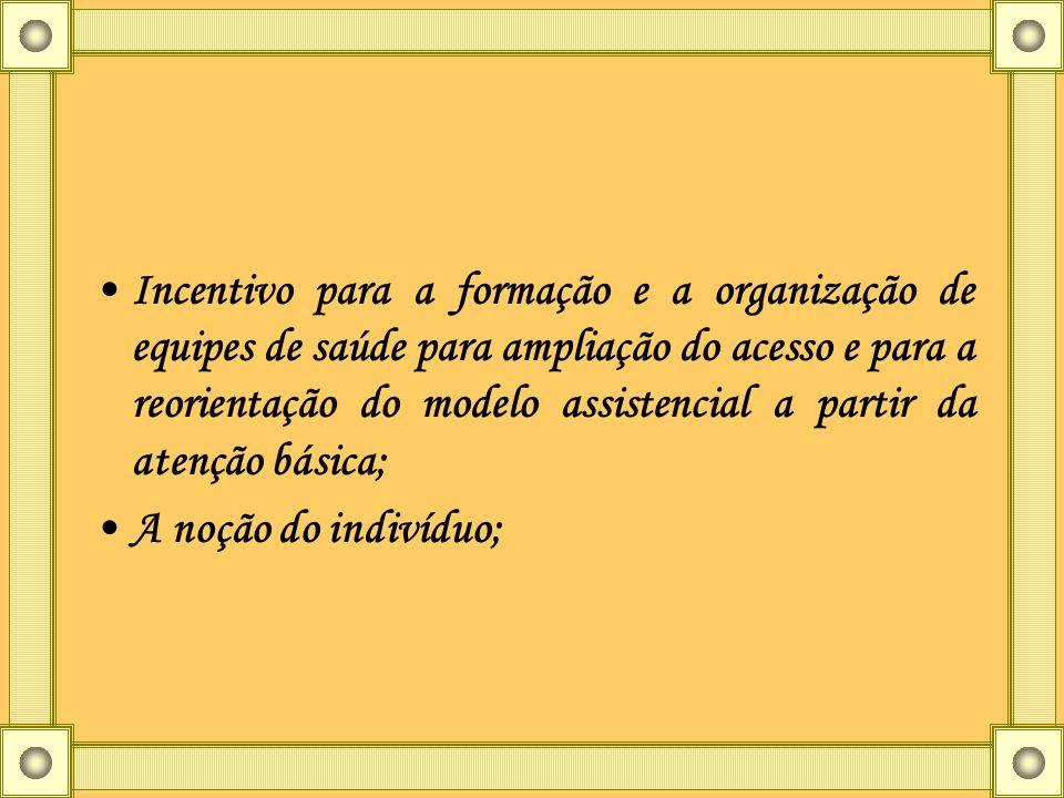 Incentivo para a formação e a organização de equipes de saúde para ampliação do acesso e para a reorientação do modelo assistencial a partir da atenção básica;