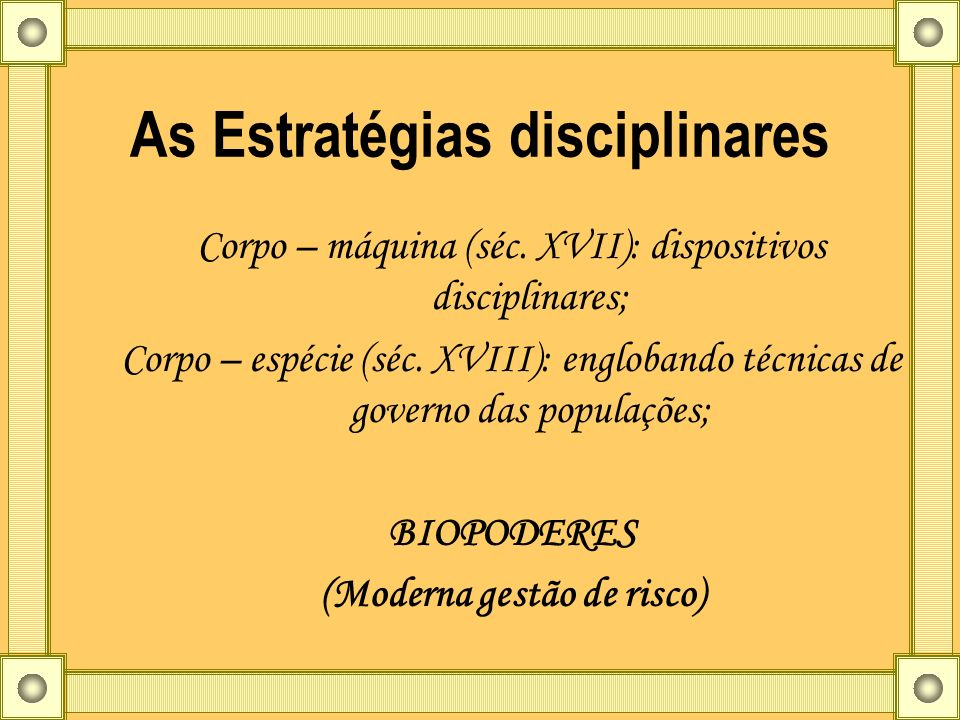 As Estratégias disciplinares