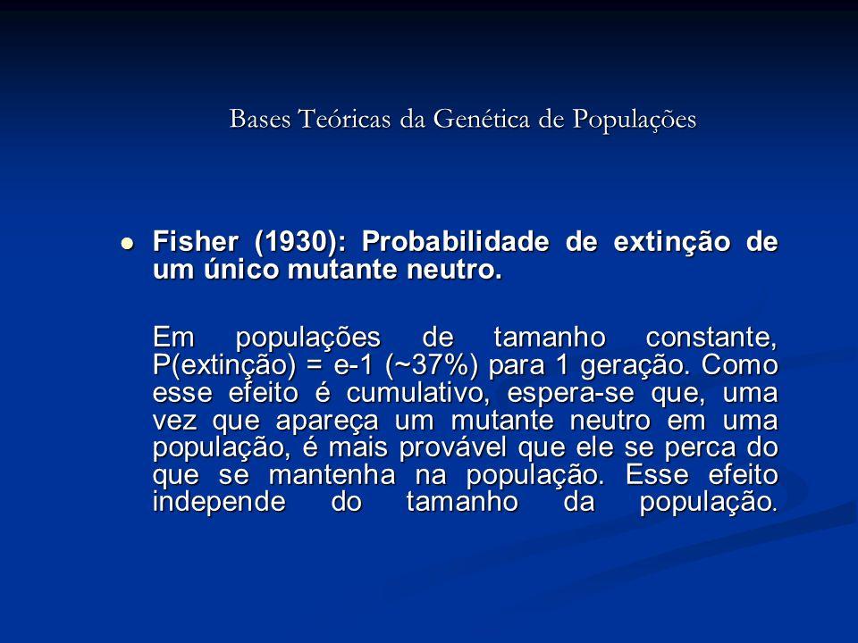 Bases Teóricas da Genética de Populações