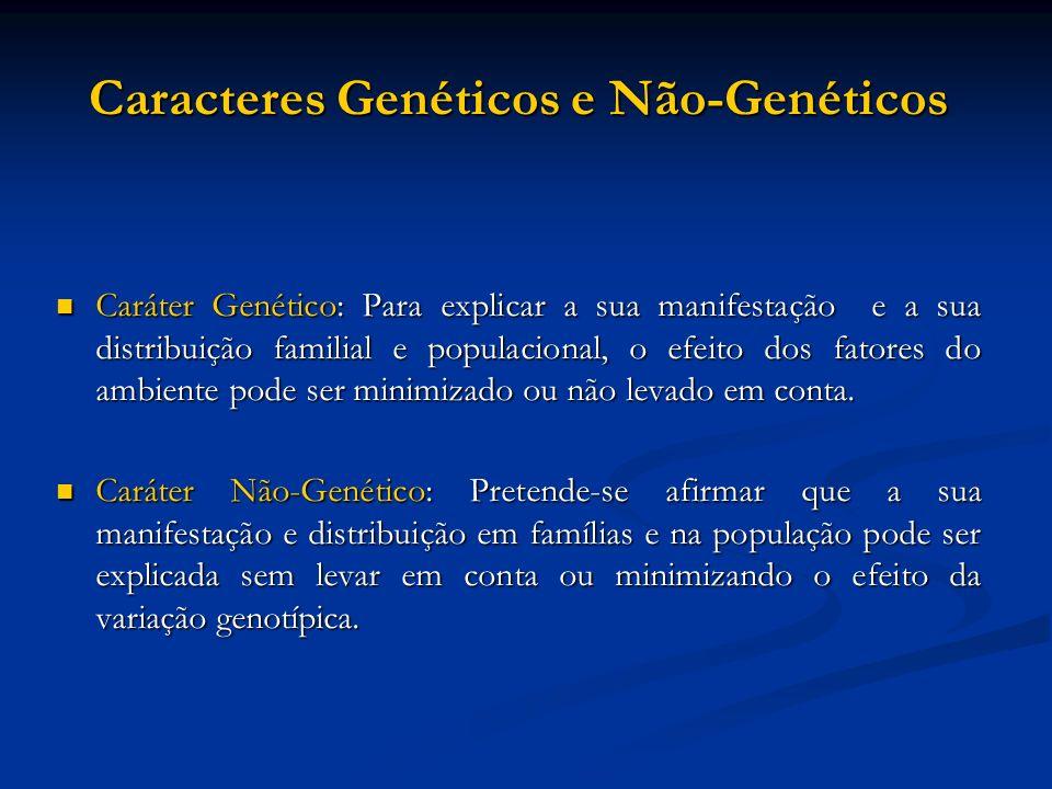 Caracteres Genéticos e Não-Genéticos