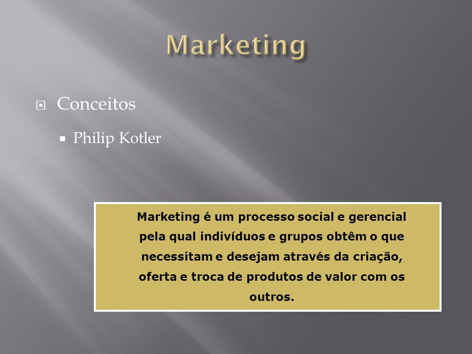 Marketing Conceitos Philip Kotler