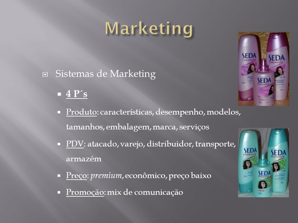 Marketing Sistemas de Marketing 4 P´s