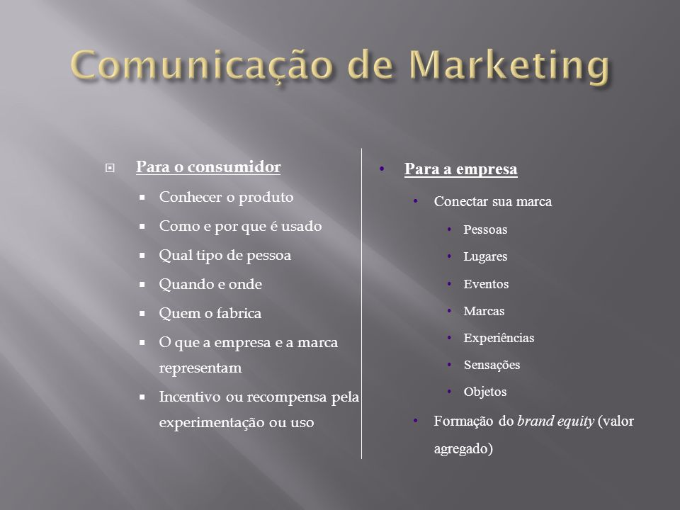 Comunicação de Marketing