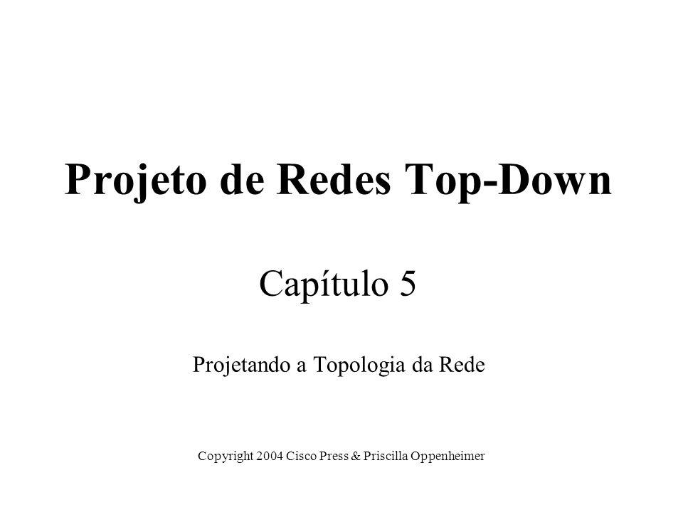 Projeto de Redes Top-Down Capítulo 5 Projetando a Topologia da Rede
