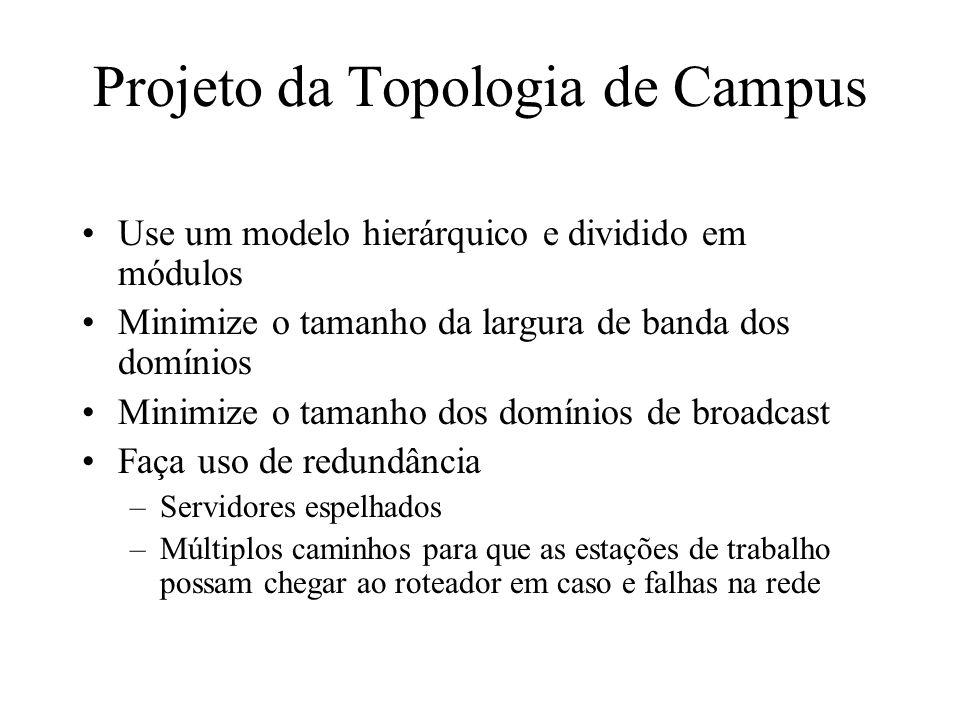 Projeto da Topologia de Campus