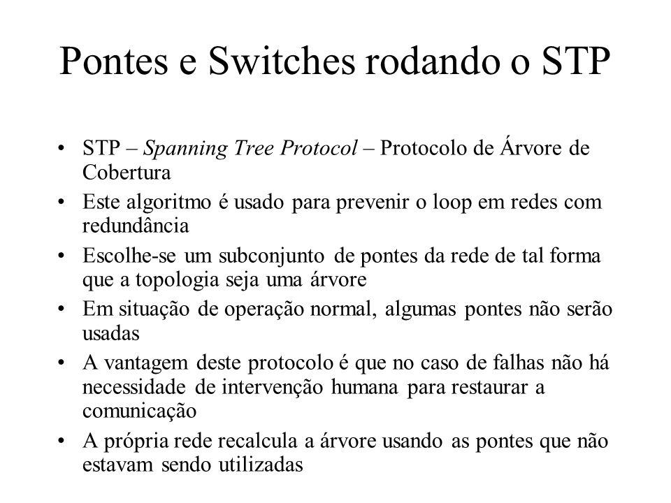 Pontes e Switches rodando o STP