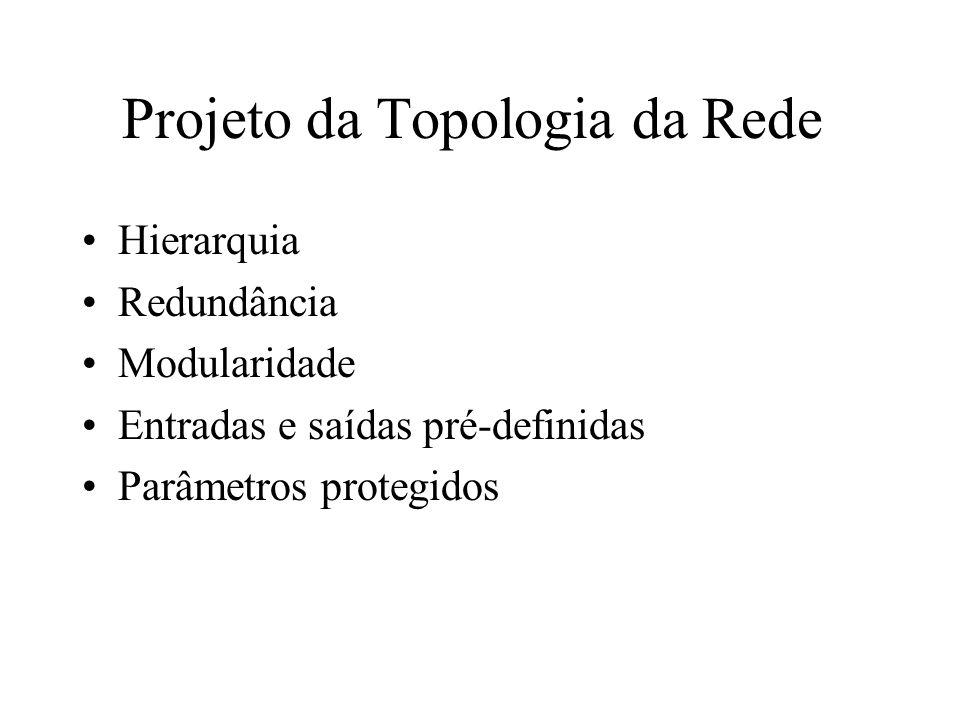 Projeto da Topologia da Rede