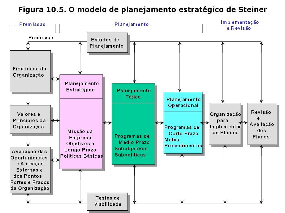 Figura 10.5. O modelo de planejamento estratégico de Steiner