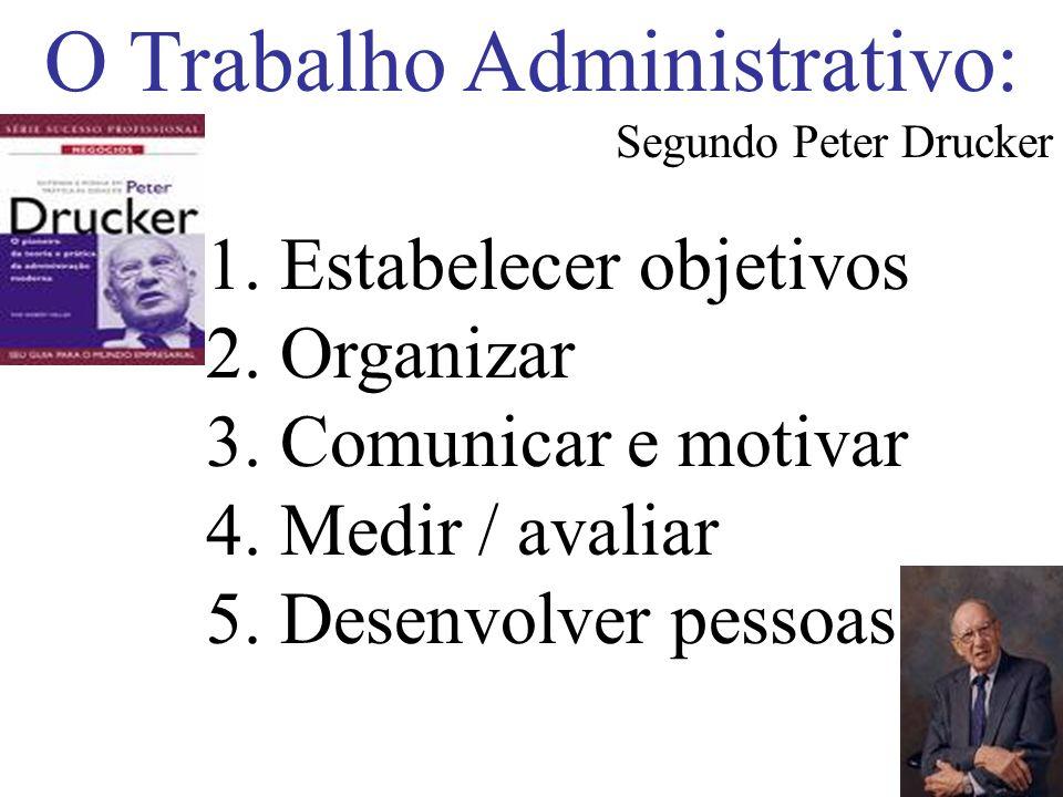 O Trabalho Administrativo: