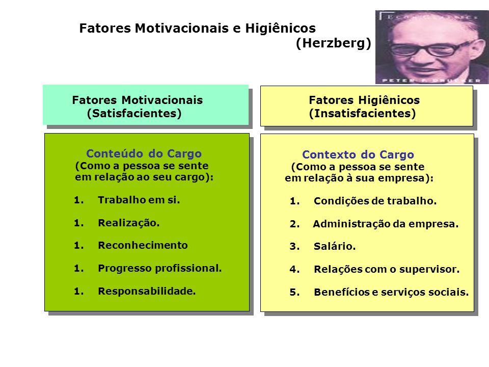Fatores Motivacionais e Higiênicos (Herzberg)