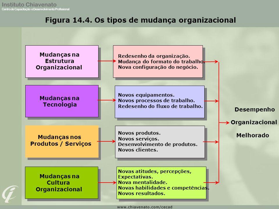 Figura 14.4. Os tipos de mudança organizacional