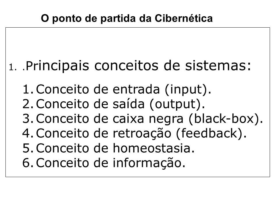 Conceito de entrada (input). Conceito de saída (output).