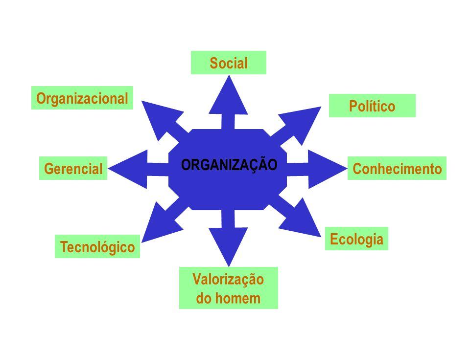 Social Político. Conhecimento. Ecologia. Valorização do homem. Gerencial. Tecnológico. Organizacional.