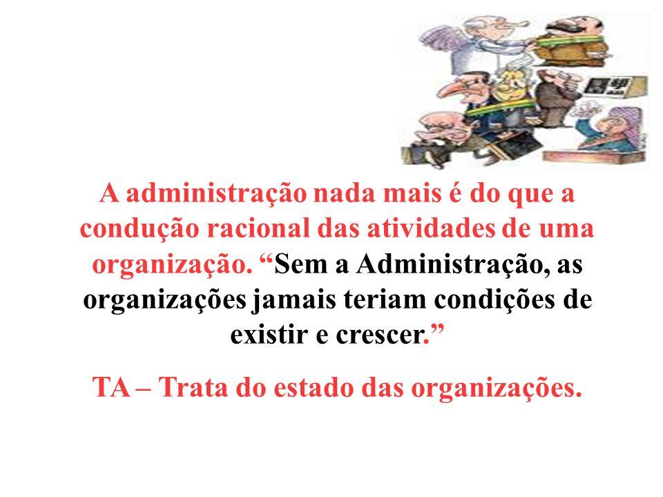 TA – Trata do estado das organizações.