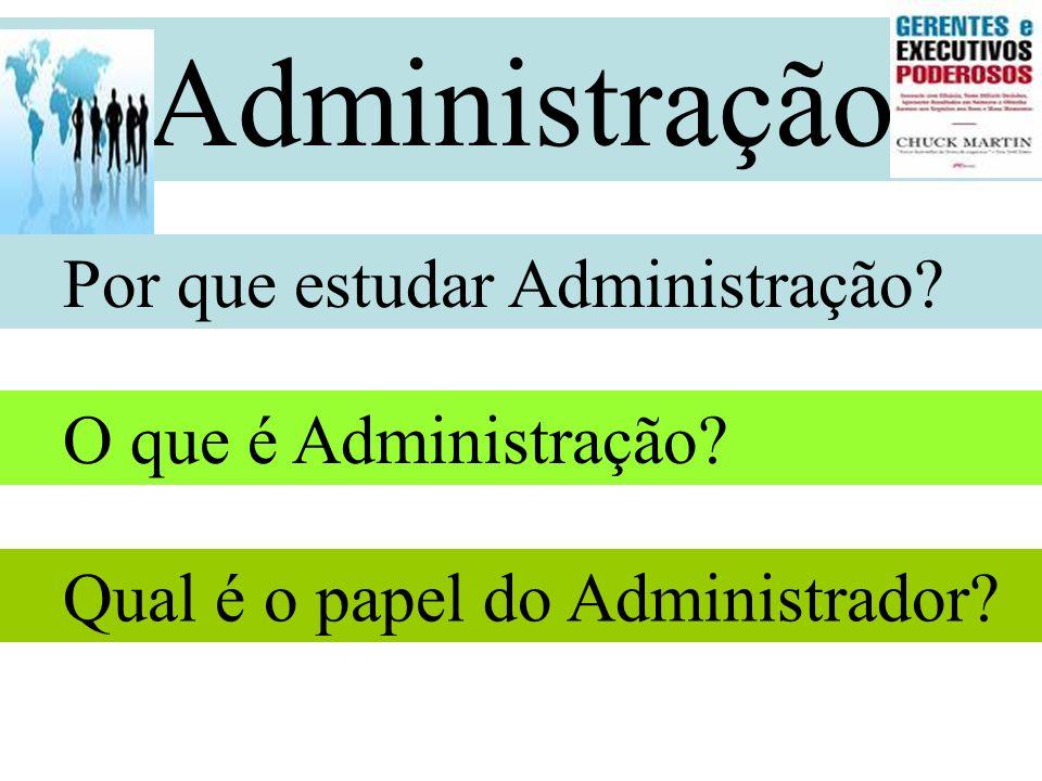 Administração Por que estudar Administração O que é Administração