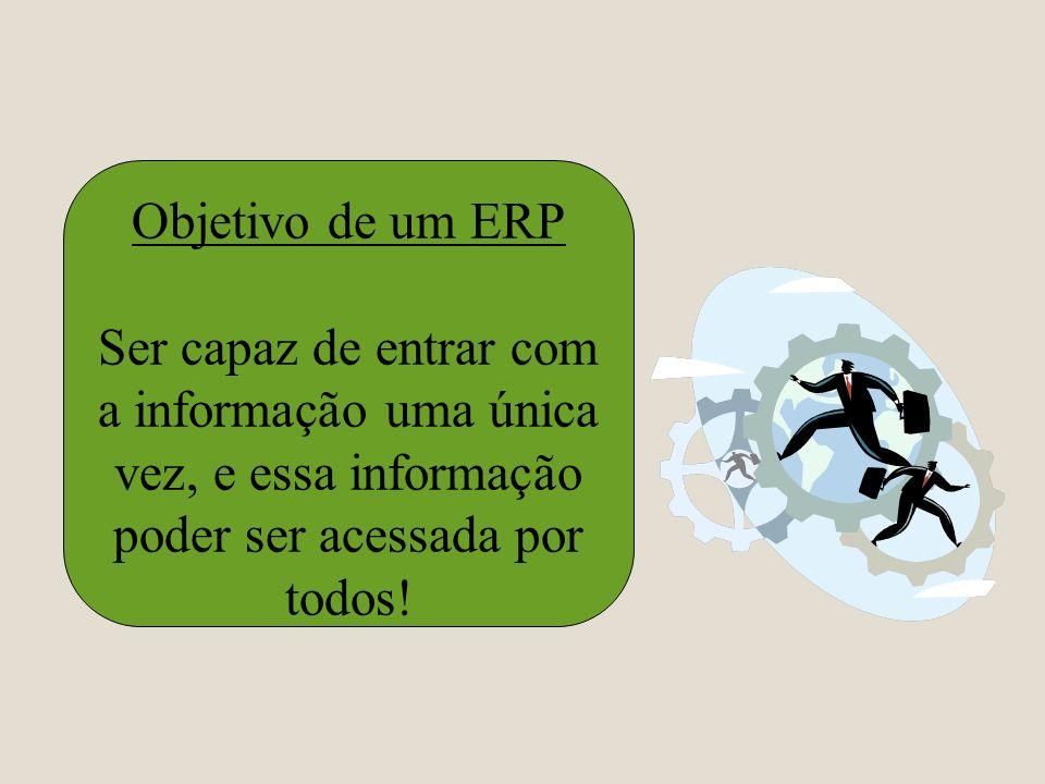 Objetivo de um ERPSer capaz de entrar com a informação uma única vez, e essa informação poder ser acessada por todos!