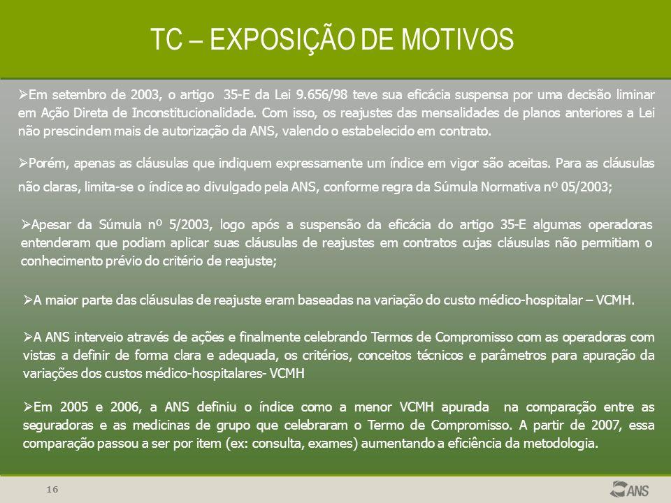 TC – EXPOSIÇÃO DE MOTIVOS