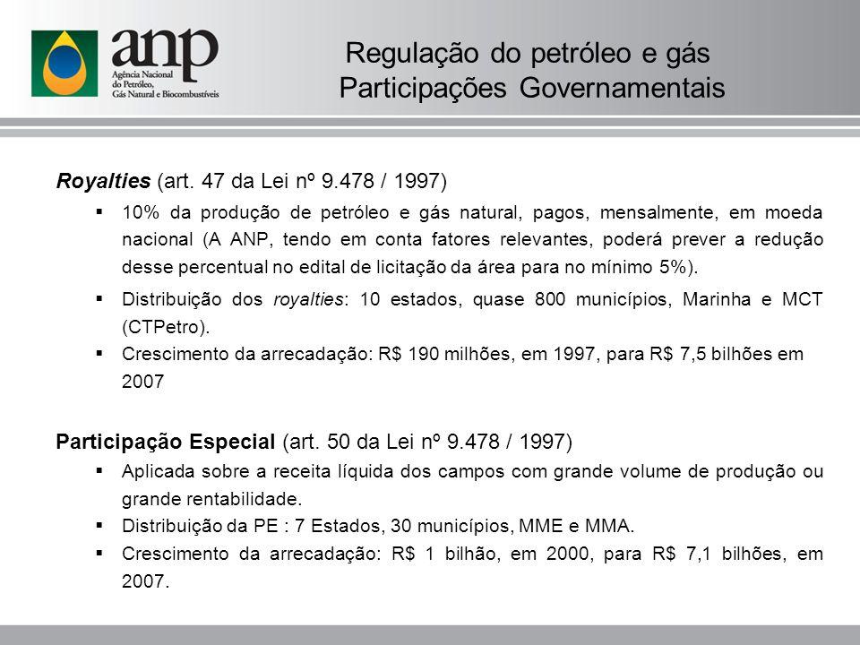 Regulação do petróleo e gás Participações Governamentais