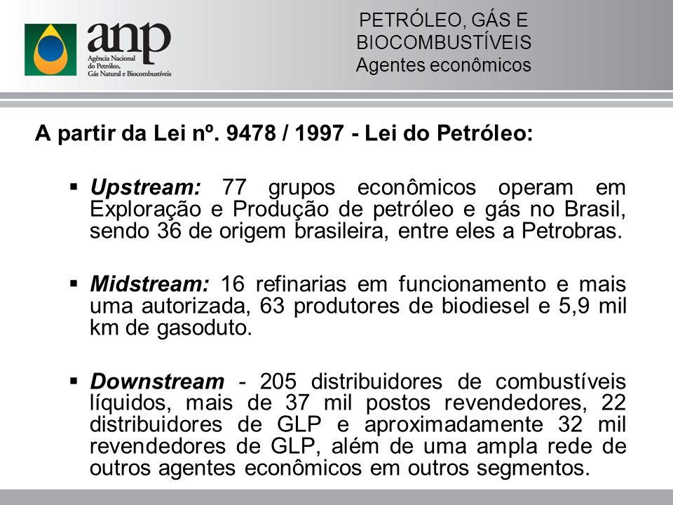 PETRÓLEO, GÁS E BIOCOMBUSTÍVEIS Agentes econômicos