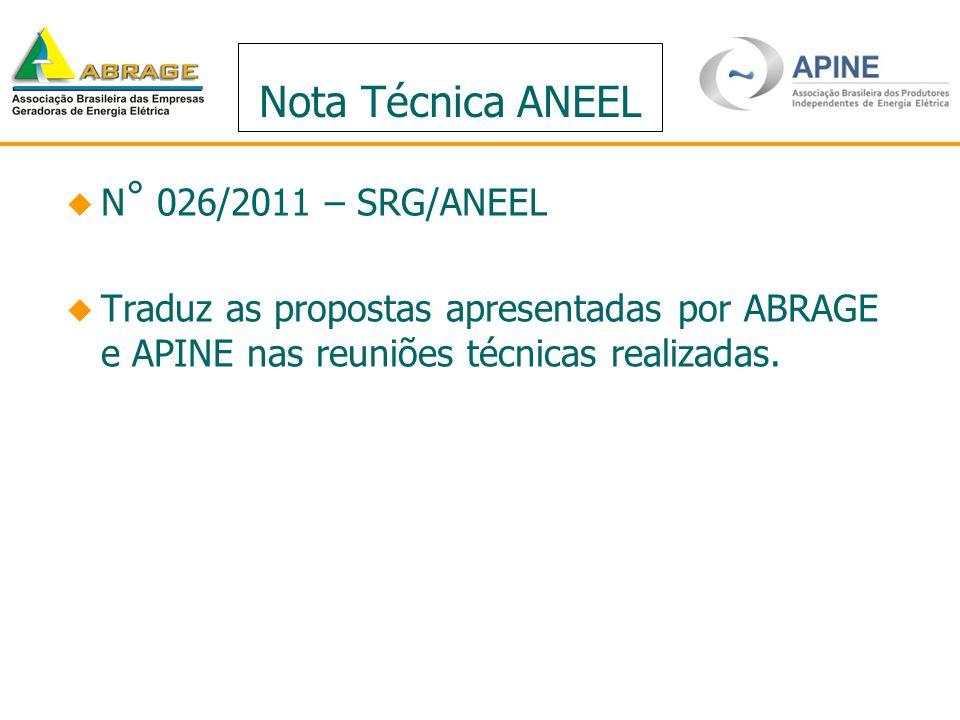 Nota Técnica ANEEL N° 026/2011 – SRG/ANEEL