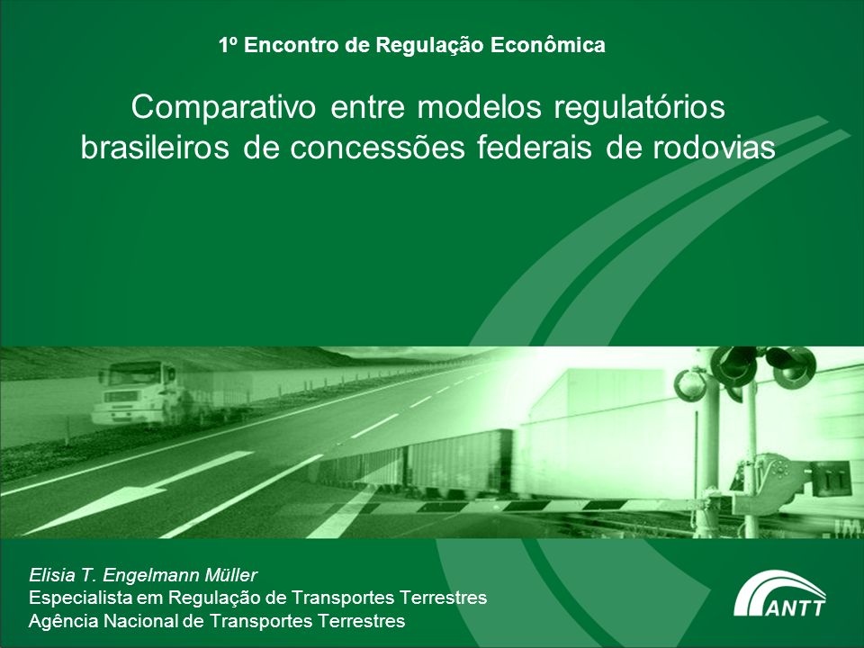 1º Encontro de Regulação Econômica