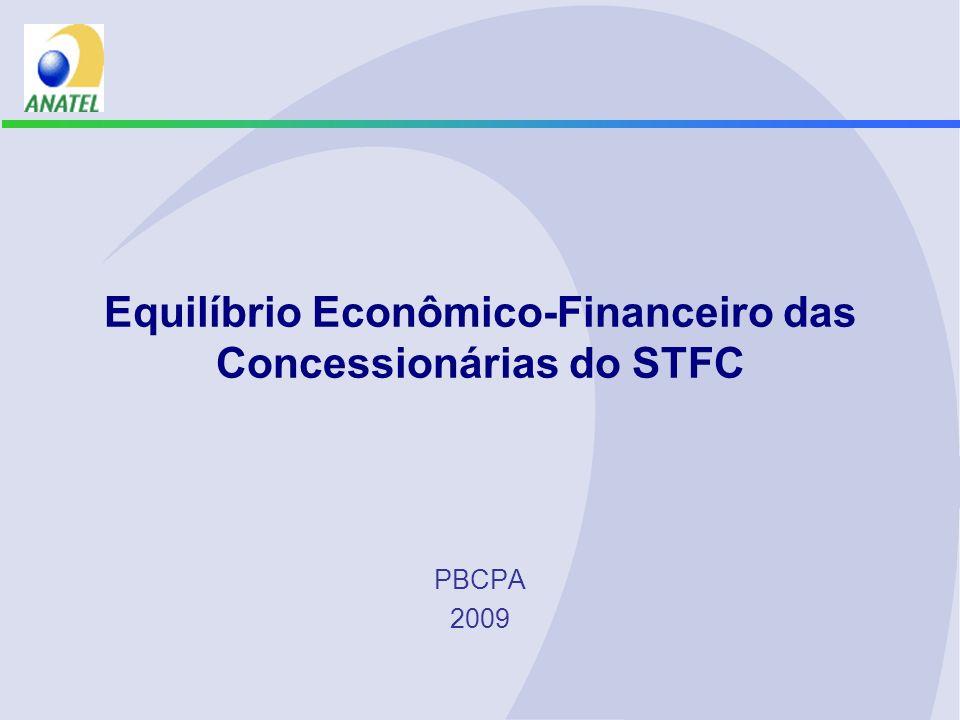 Equilíbrio Econômico-Financeiro das Concessionárias do STFC