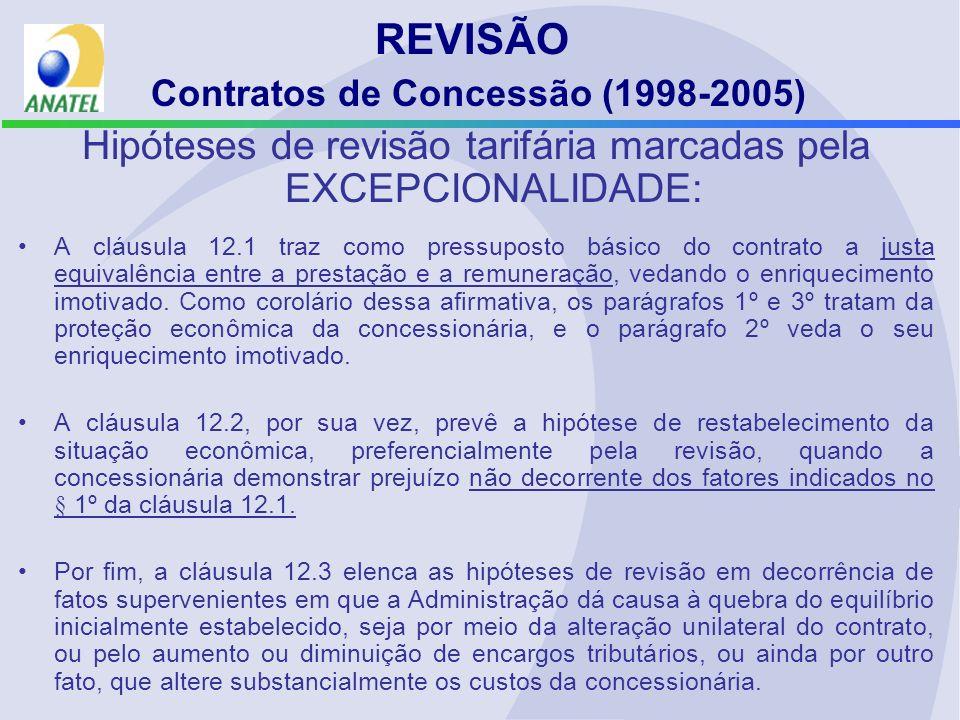 REVISÃO Contratos de Concessão (1998-2005)