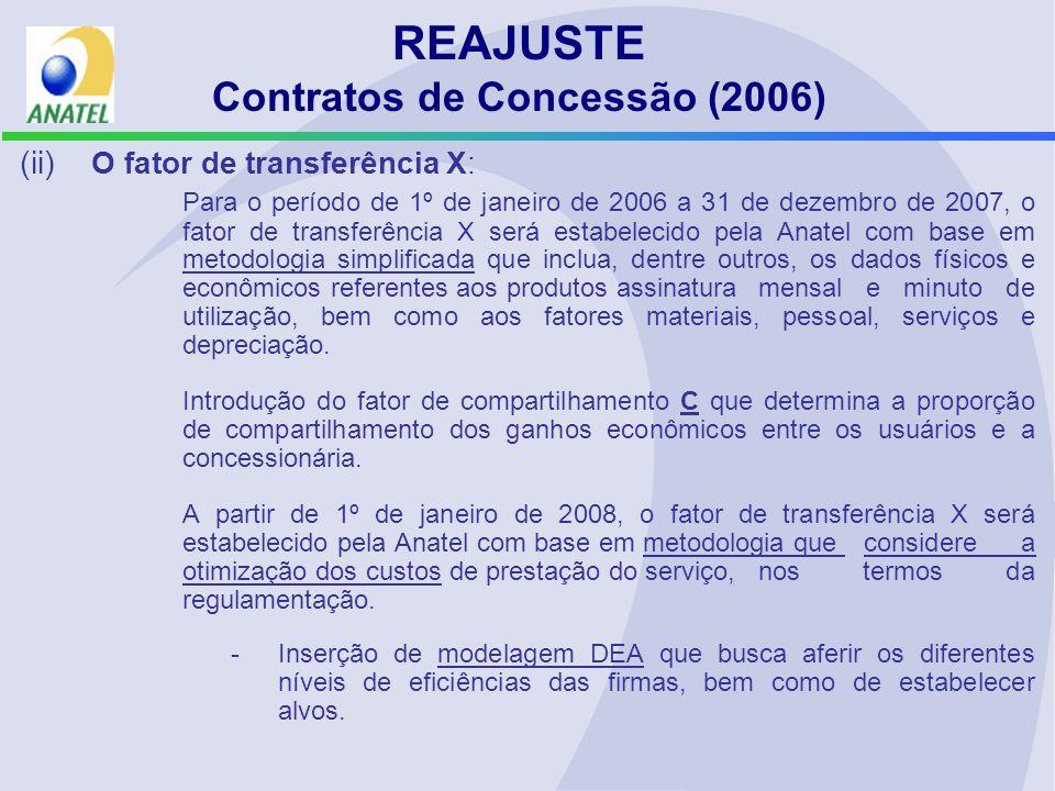 REAJUSTE Contratos de Concessão (2006)