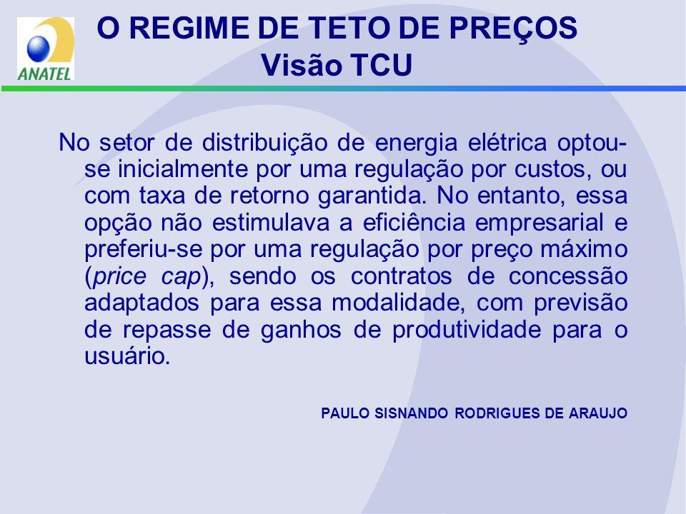 O REGIME DE TETO DE PREÇOS Visão TCU
