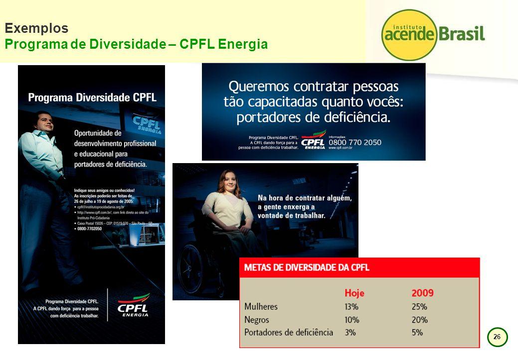 Exemplos Programa de Diversidade – CPFL Energia