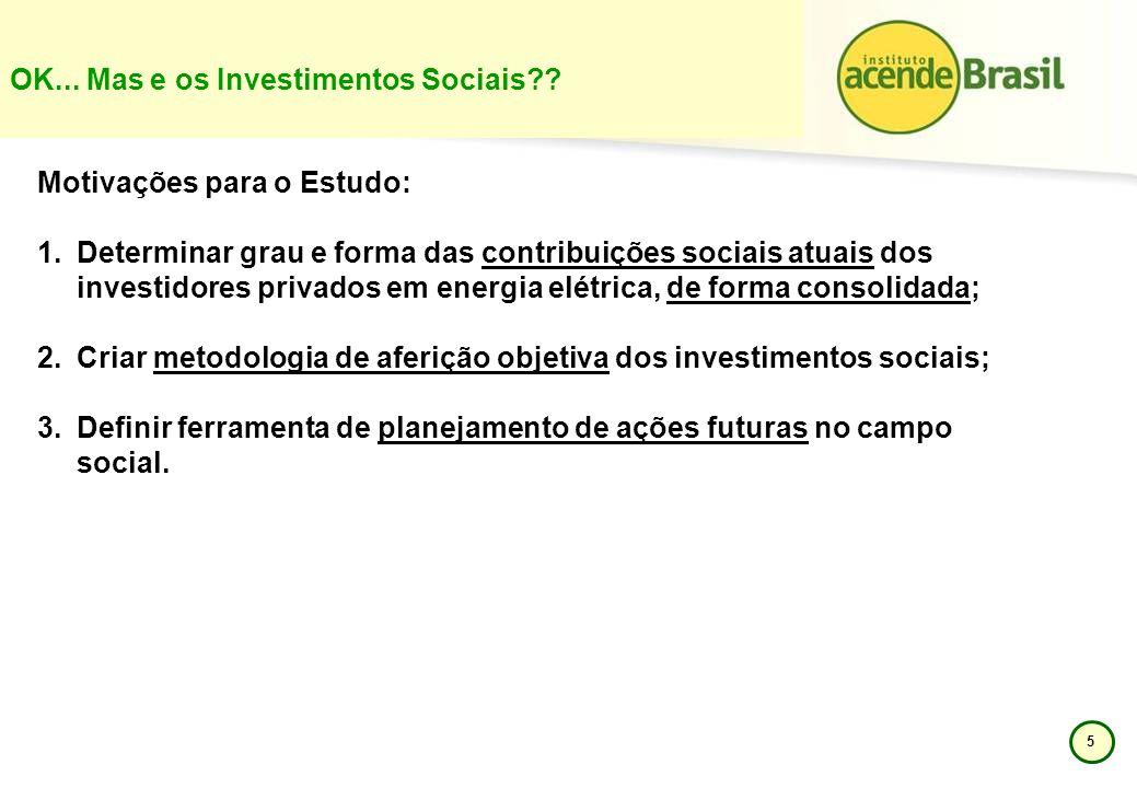 OK... Mas e os Investimentos Sociais