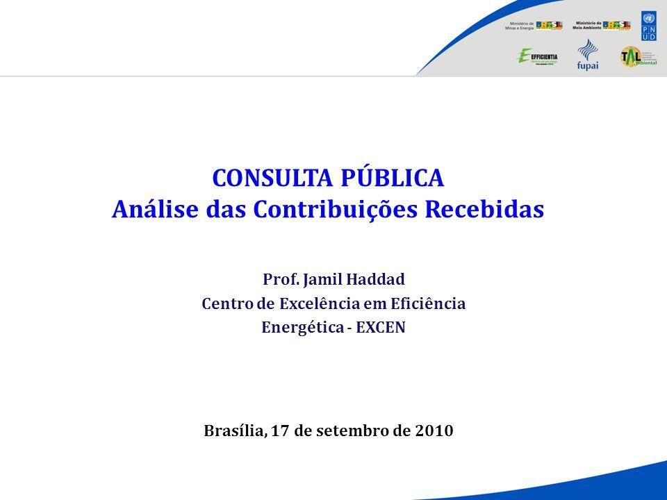 CONSULTA PÚBLICA Análise das Contribuições Recebidas