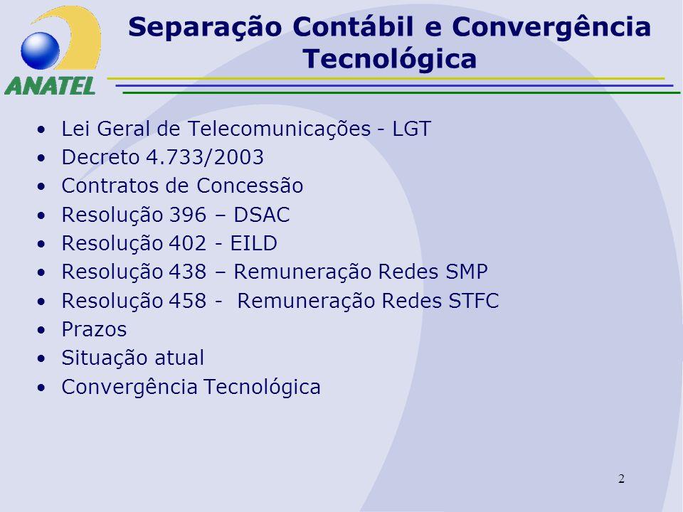 Separação Contábil e Convergência Tecnológica