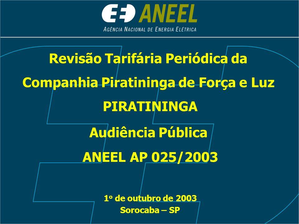 Revisão Tarifária Periódica da Companhia Piratininga de Força e Luz