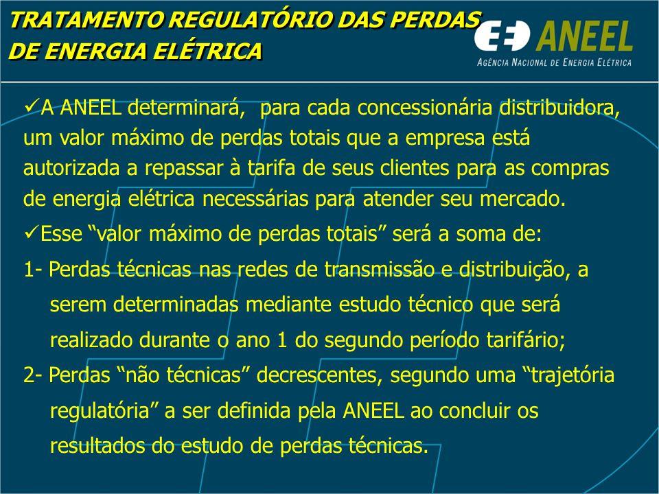 TRATAMENTO REGULATÓRIO DAS PERDAS DE ENERGIA ELÉTRICA