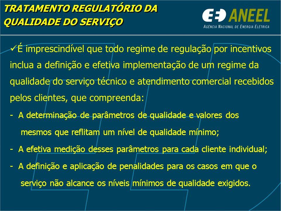 TRATAMENTO REGULATÓRIO DA QUALIDADE DO SERVIÇO