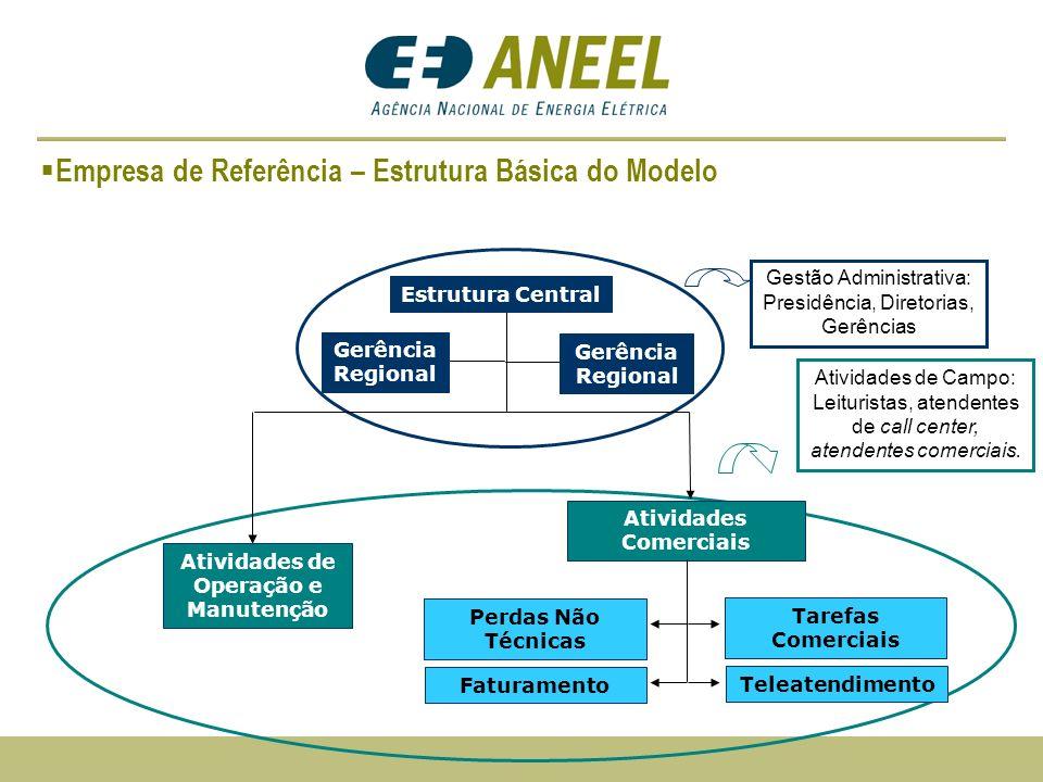 Empresa de Referência – Estrutura Básica do Modelo