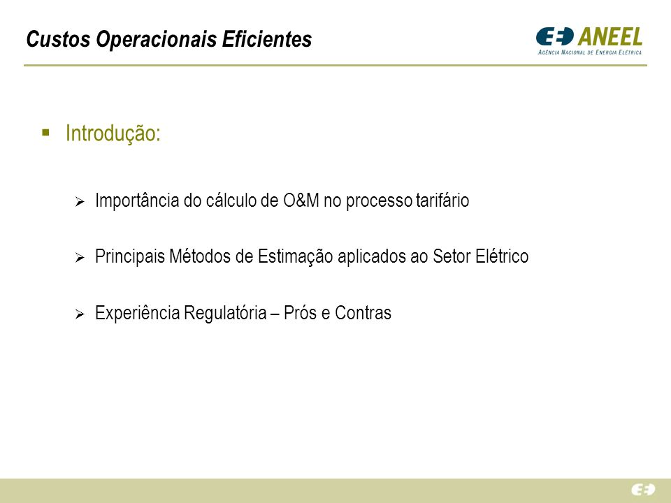 Custos Operacionais Eficientes