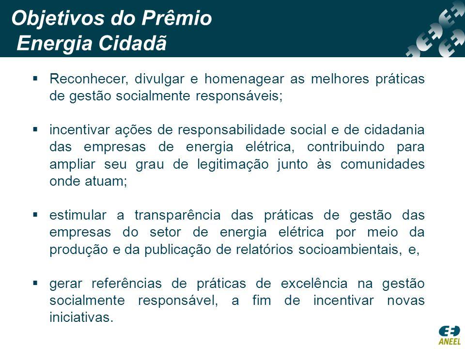 Objetivos do Prêmio Energia Cidadã