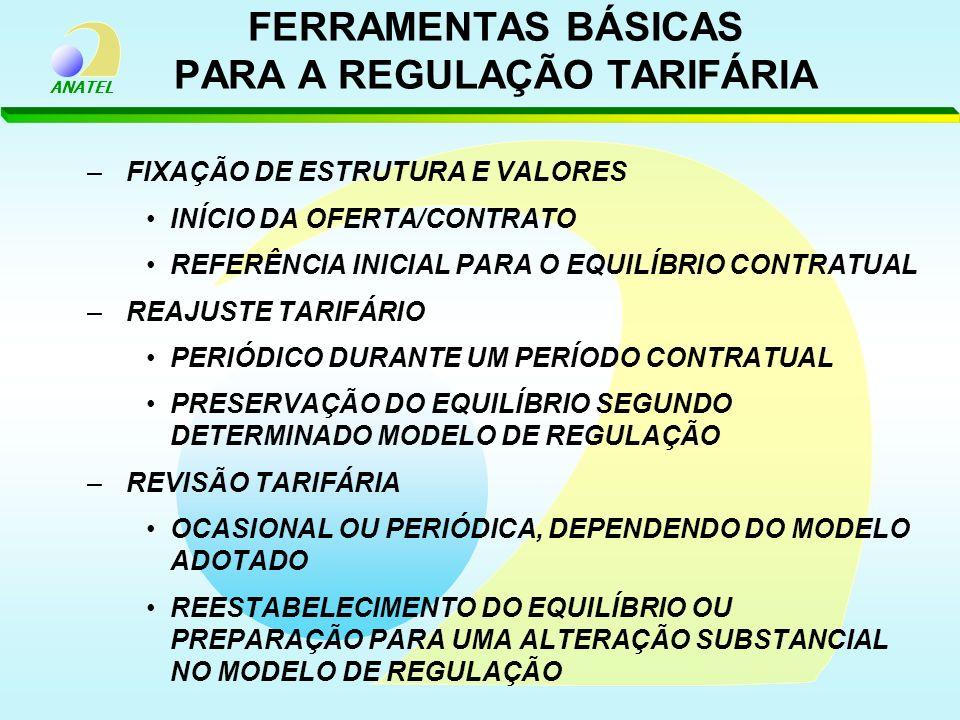 FERRAMENTAS BÁSICAS PARA A REGULAÇÃO TARIFÁRIA