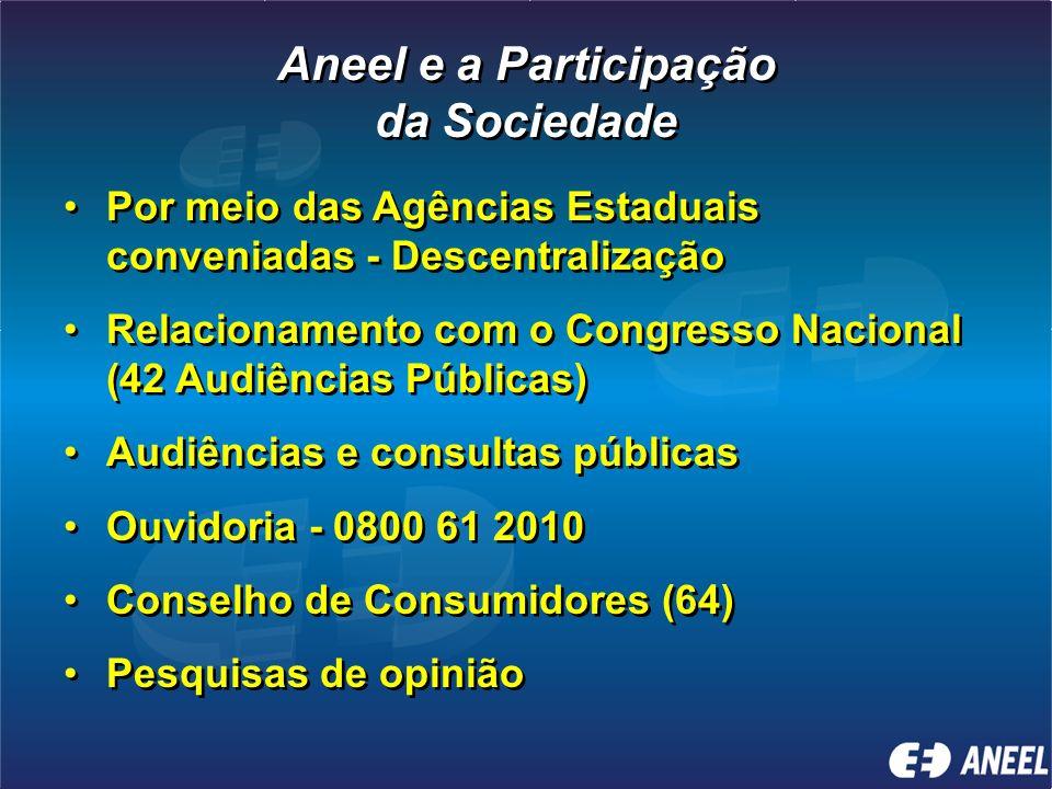 Aneel e a Participação da Sociedade