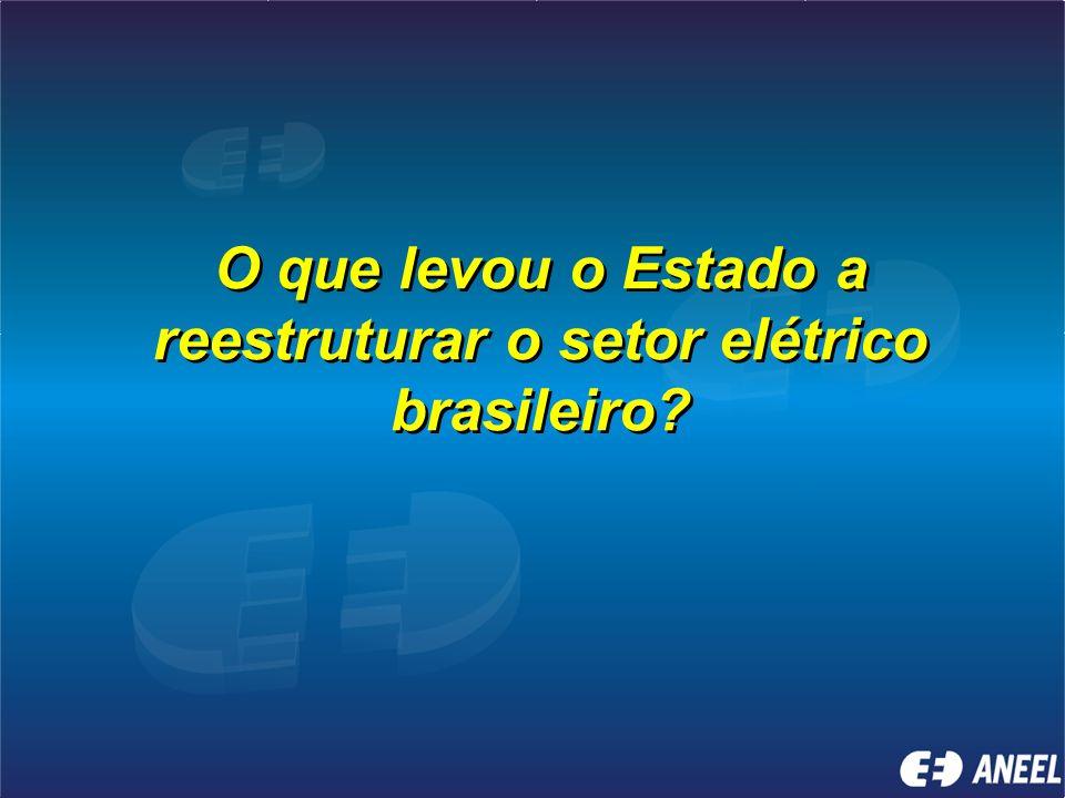 O que levou o Estado a reestruturar o setor elétrico brasileiro