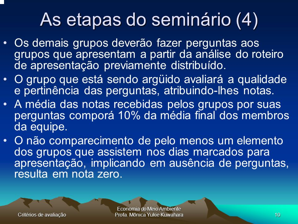 As etapas do seminário (4)