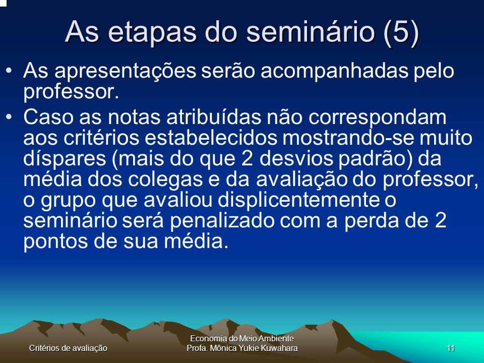 As etapas do seminário (5)