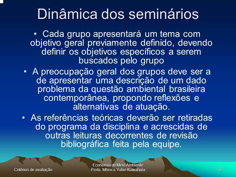 Dinâmica dos seminários