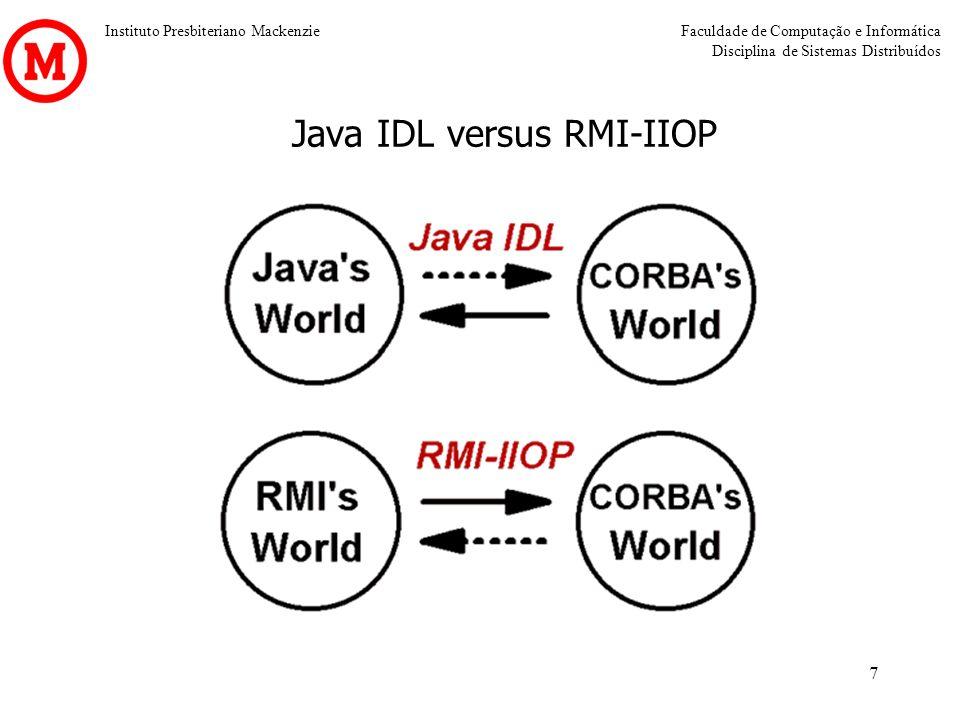 Java IDL versus RMI-IIOP